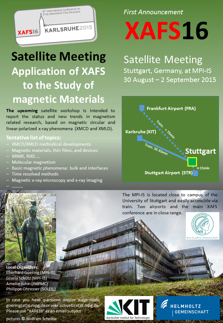 XMCD satellite meeting